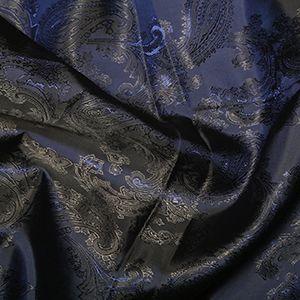 Paisley Jacquard Dress Lining Fabric Navy