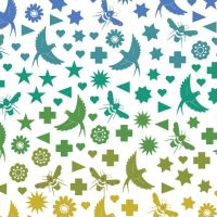Makower By Alison Glass Cotton Fabric Birds & Bees In Day