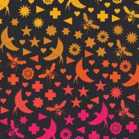 Makower By Alison Glass Cotton Fabric Birds & Bees In Night