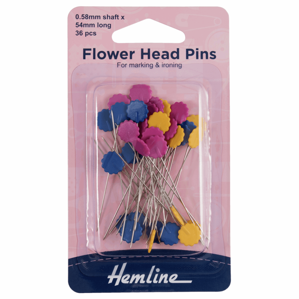 Hemline Flower Head Pins