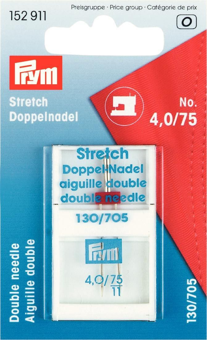 Prym Twin Stretch Needle 4.0mm 75/11