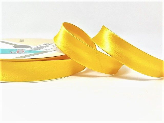 18mm Satin Bias Binding Yellow 005