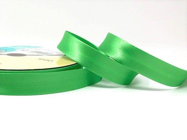 18mm Satin Bias Binding Apple Green 058