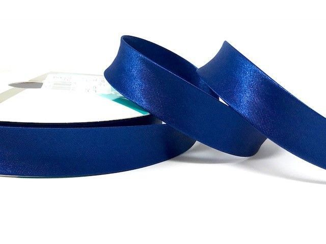 18mm Satin Bias Binding Royal Blue 020