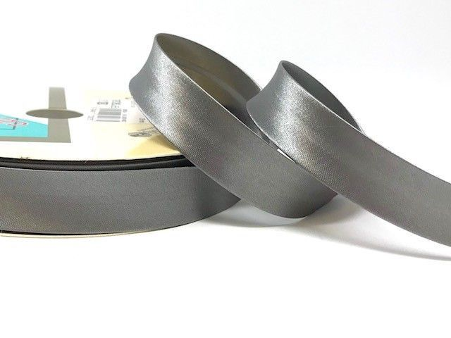 18mm Satin Bias Binding Pewter Grey 011