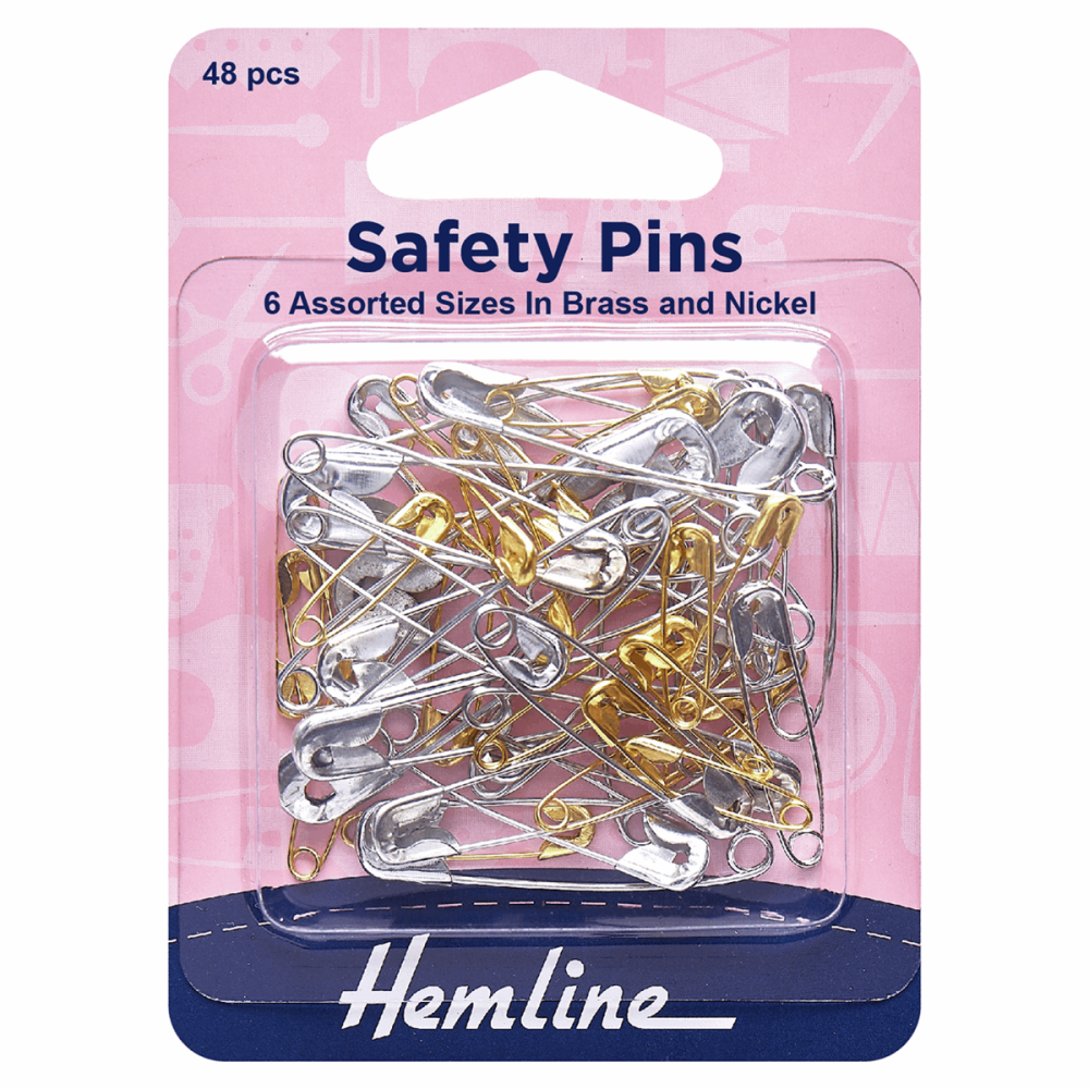 Hemline Safety pins 48 pcs