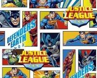 Little Johnny Cotton Fabric Justice League Defenders