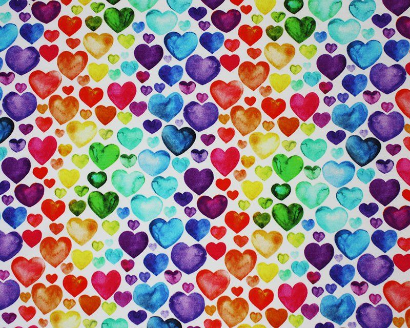 Little Johnny Cotton Jersey Fabric Hearts