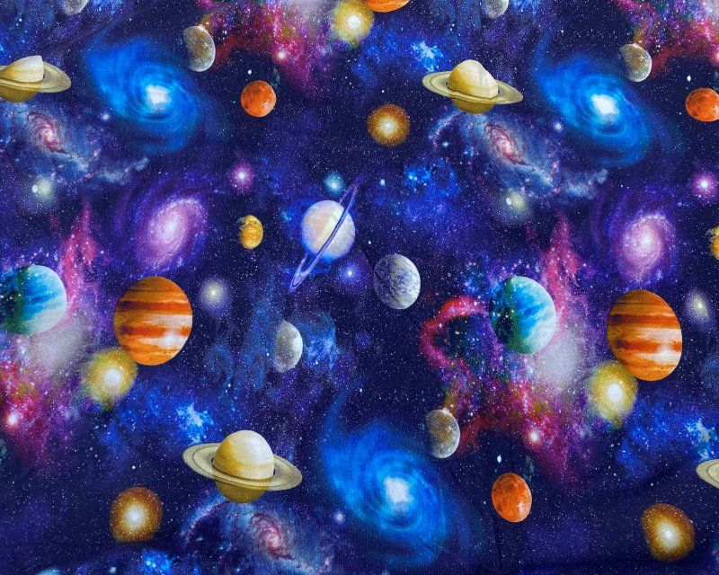 Little Johnny Cotton Jersey Fabric Universe