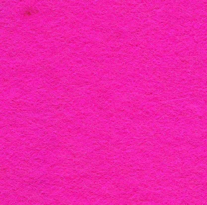 Wool Felt Mix Shocking Pink