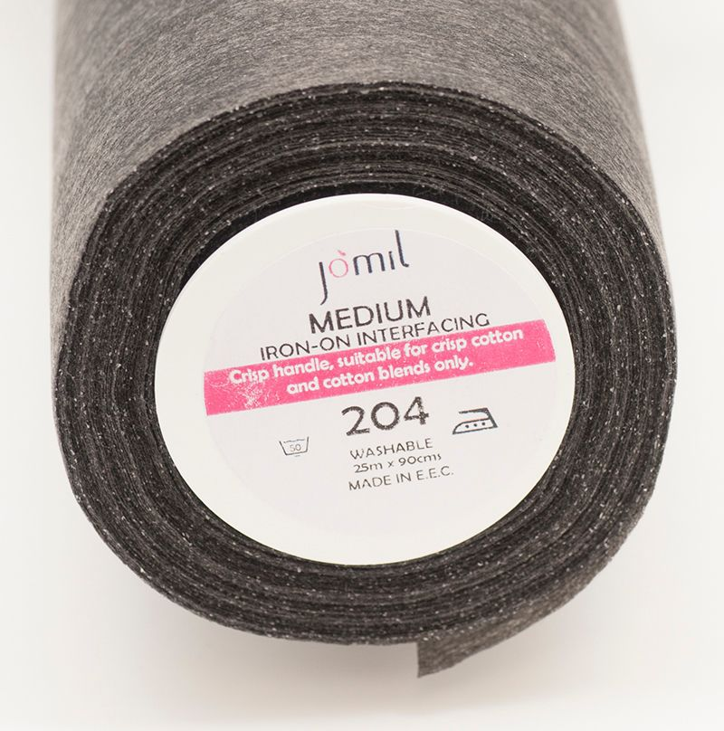 204 Medium Charcoal standard iron on Interfacing