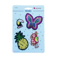 Iron on Patches Butterfly Pineapple