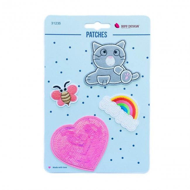 Iron on Patches Marine Cat Heart