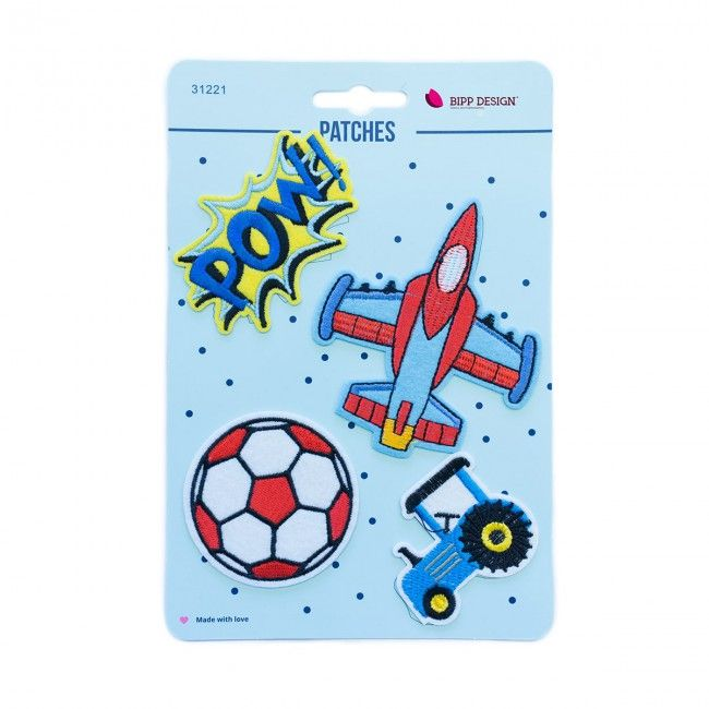 Iron on Patches Football Plane Tractor