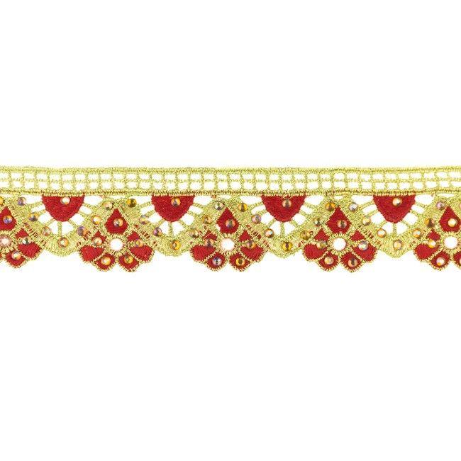 35mm Gold Diamond Trim Red