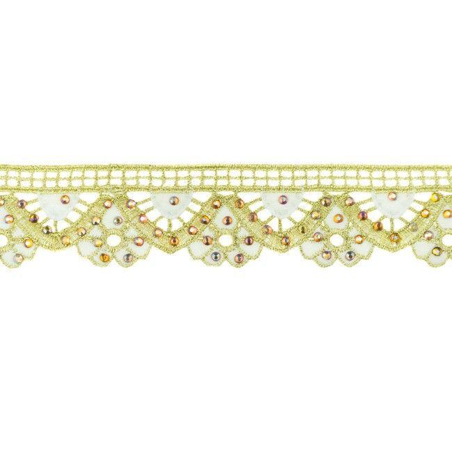 35mm Gold Diamond Trim White