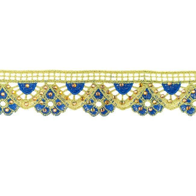 35mm Gold Diamond Trim Cobalt Blue