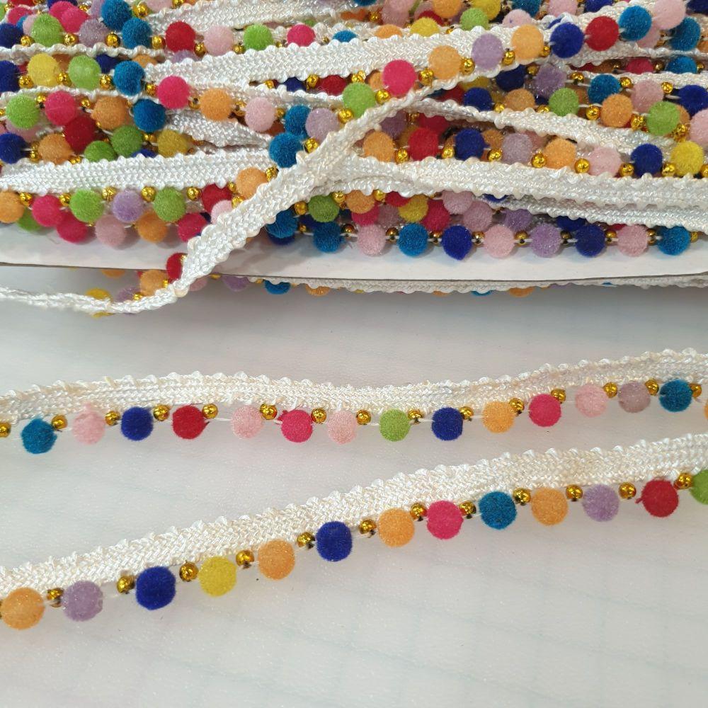 Pom-Pom Trim Multi Colour 10mm