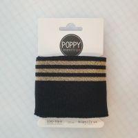 Cuffs Gold Stripe Black