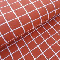 Soft Sweat Squares GOTS Fabric Terracotta