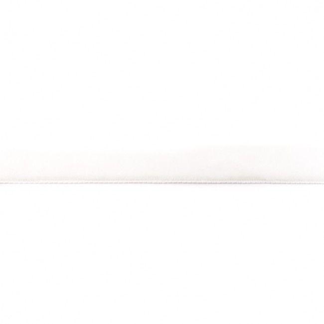 15mm Velvet Ribbon Off White