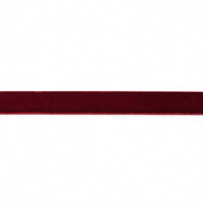 15mm Velvet Ribbon Wine