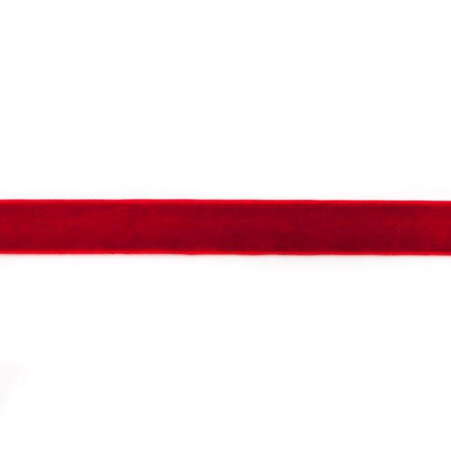 15mm Velvet Ribbon Dark Red