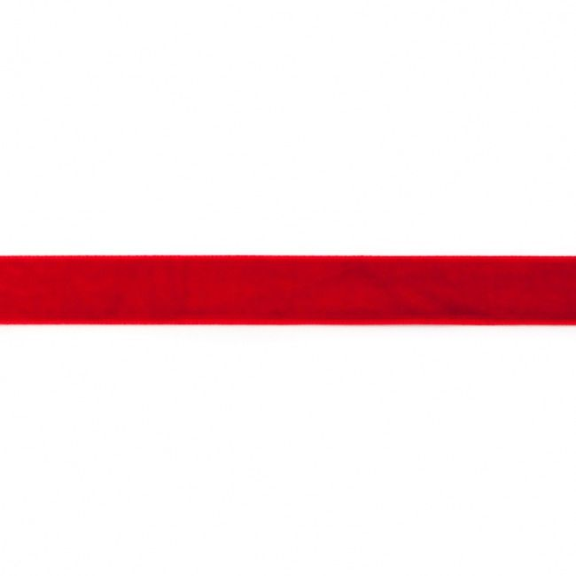 15mm Velvet Ribbon Red
