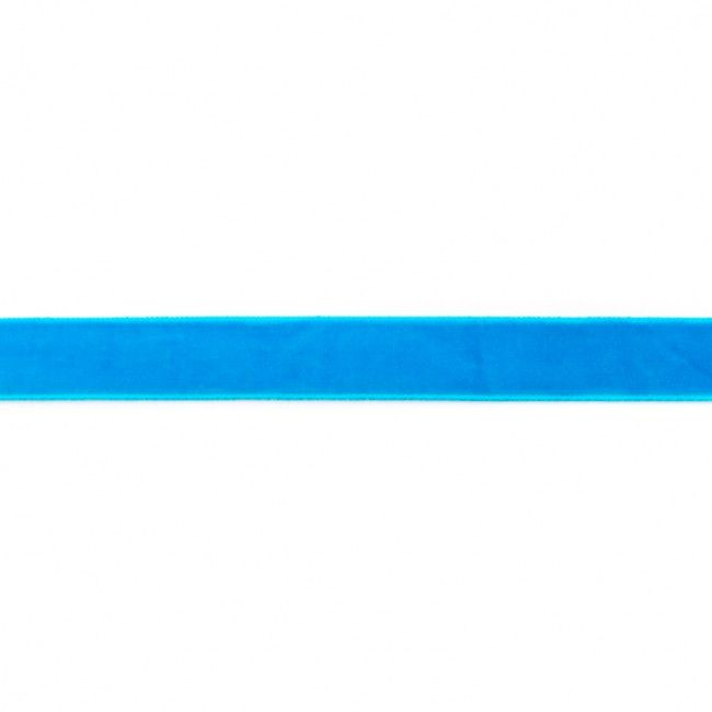 15mm Velvet Ribbon Aqua
