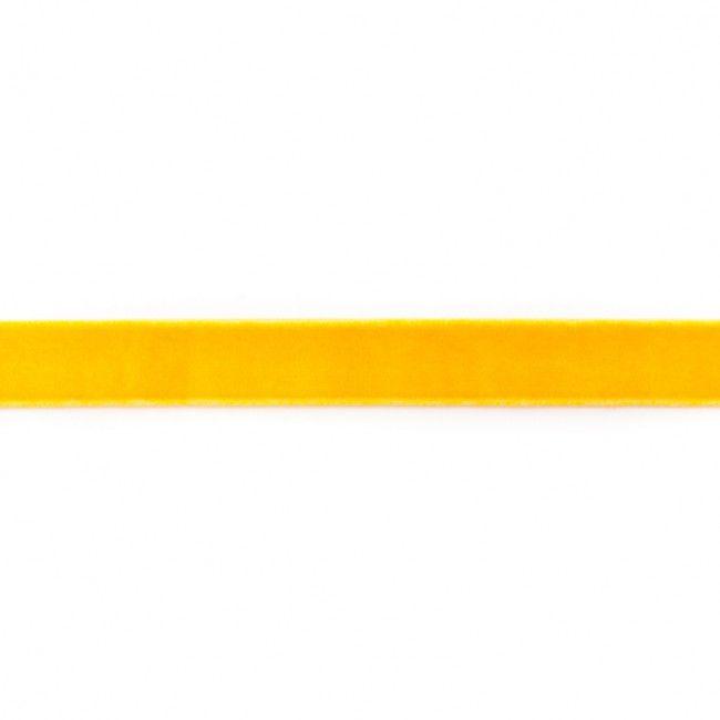 15mm Velvet Ribbon Yellow