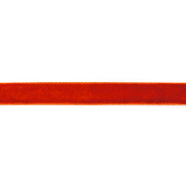 15mm Velvet Ribbon Orange