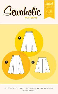 Sewaholic Sewing Pattern 1206 Hollyburn Skirt