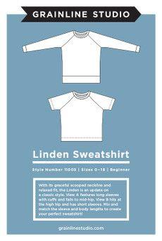 Grainline Studio Linden Sweatshirt Sewing Pattern