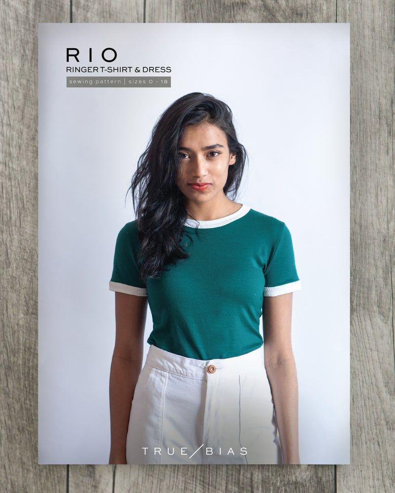 True Bias Rio Ringer T-Shirt & Dress Sewing Pattern