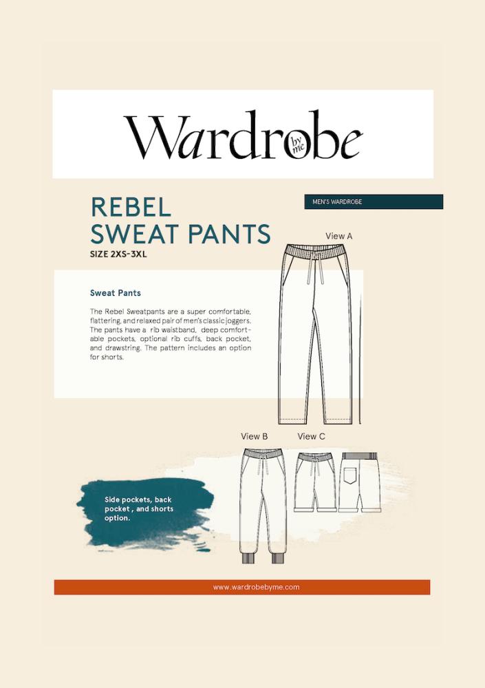 Wardrobe By Me Rebel Sweat Joggers Sewing Pattern