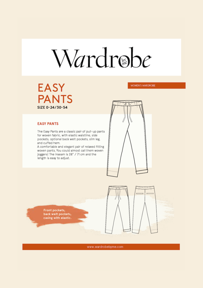 Wardrobe By Me Easy Pant Sewing Pattern