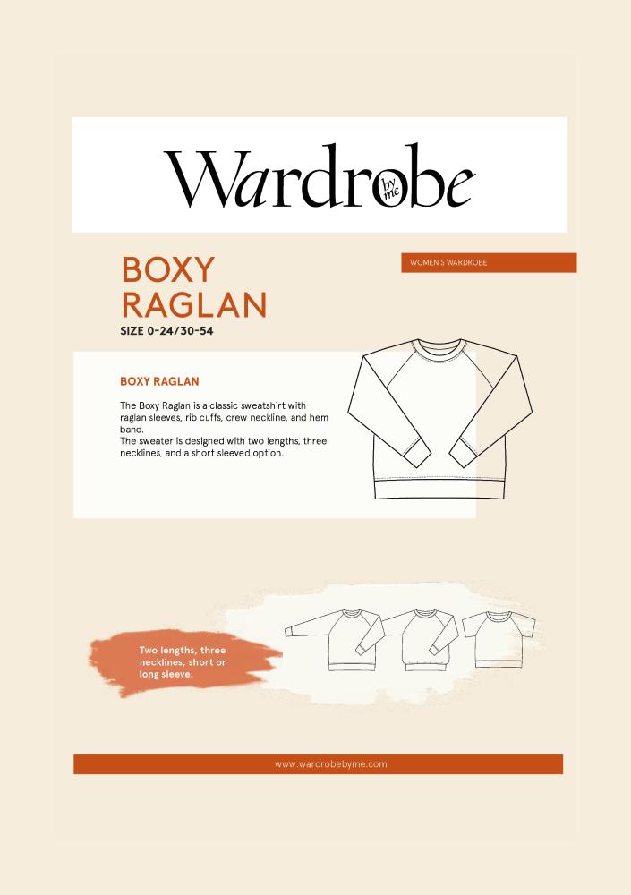 Wardrobe By Me Boxy Raglan Sweater Sewing Pattern
