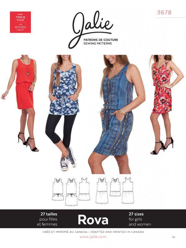 Jalie Henri 3678 Rova Dress & Tunic Sewing Pattern