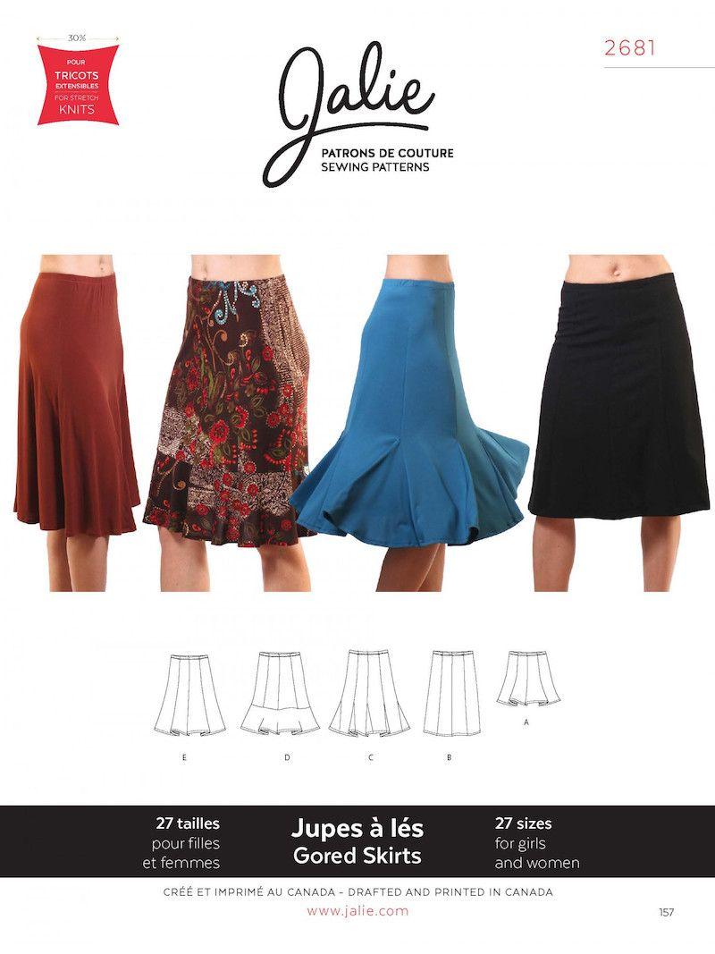 Jalie 2681 Knit Gored Skirt For Girls and Women