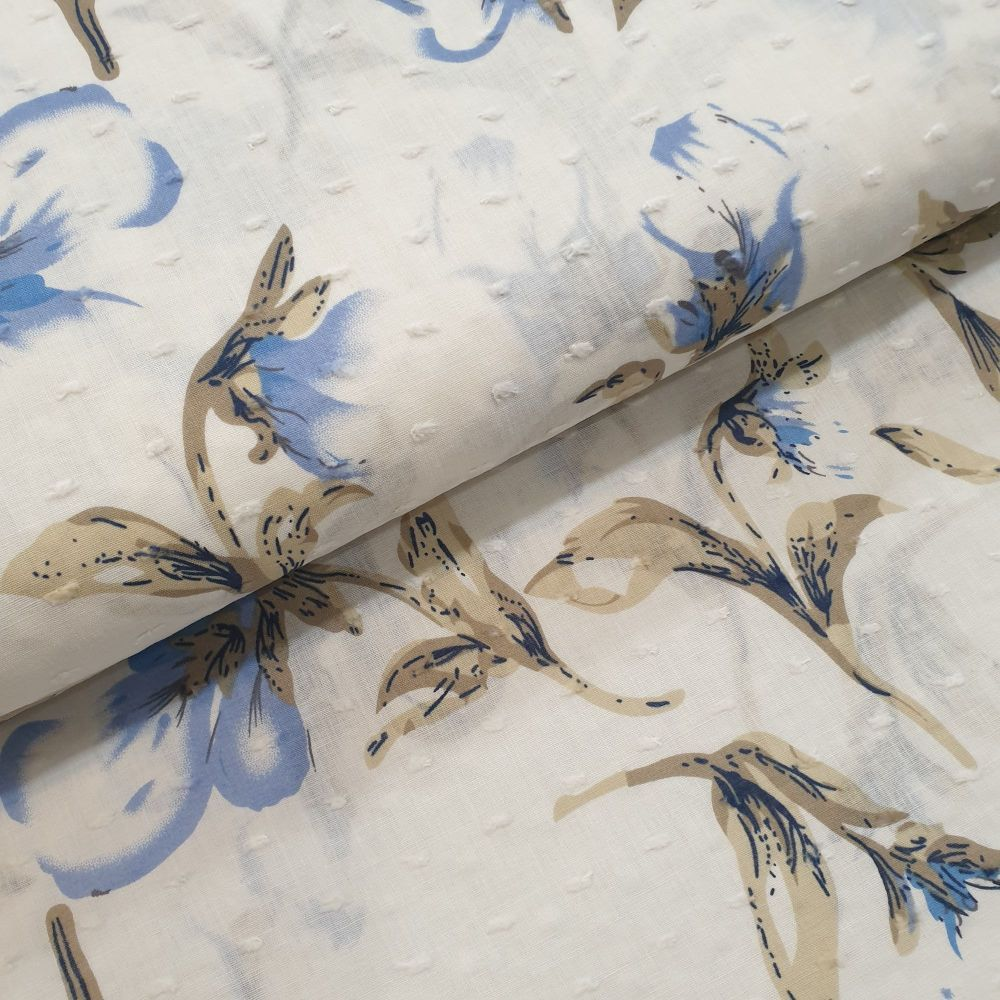 Lightweight Cotton Dobby Fabric Florals