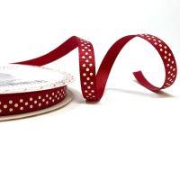 Bertie's Bows 9mm Grosgrain Ribbon Polka Dots Cranberry 27