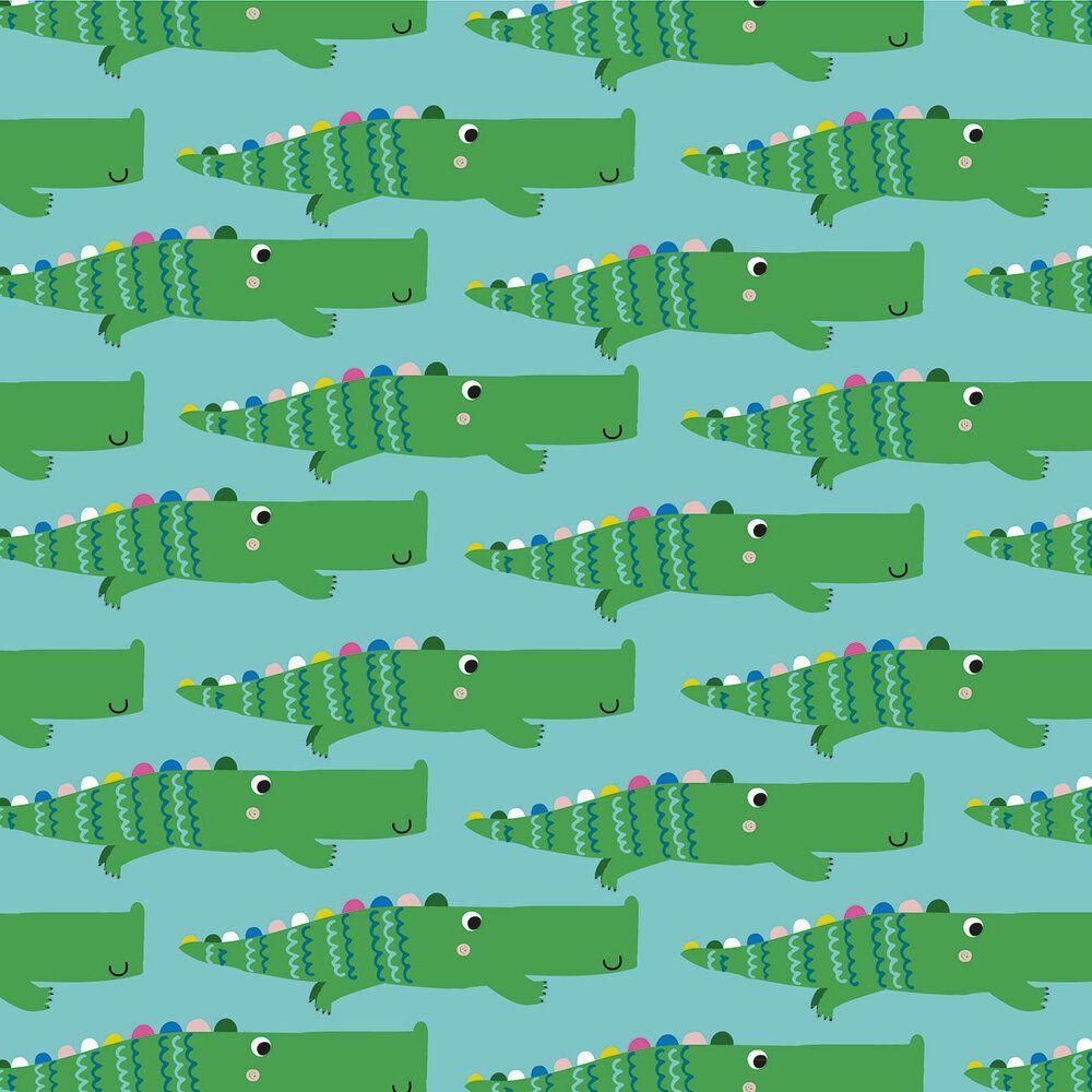 Dashwood Studio Rainbow Friends Cotton Fabric Crocodile 1790