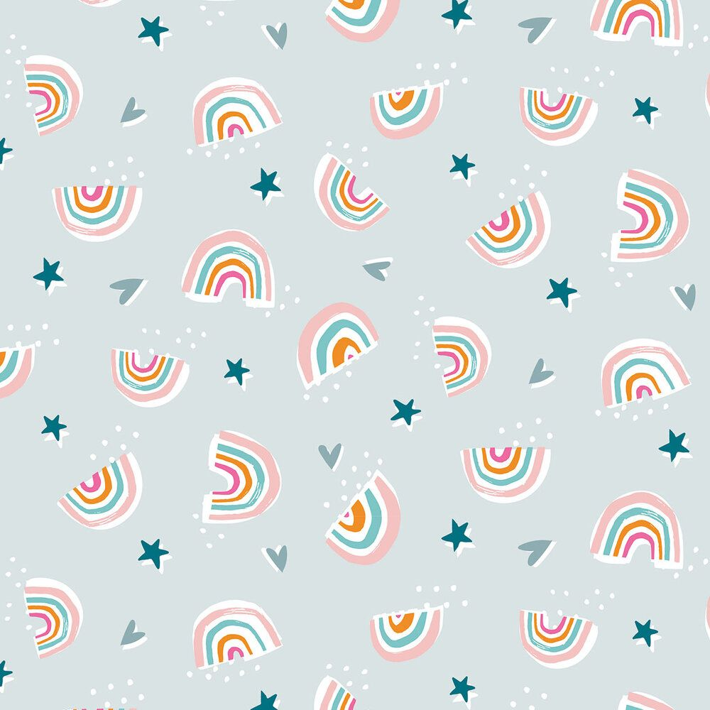 Dashwood Studio Rainbow Friends Cotton Fabric Rainbows 1793