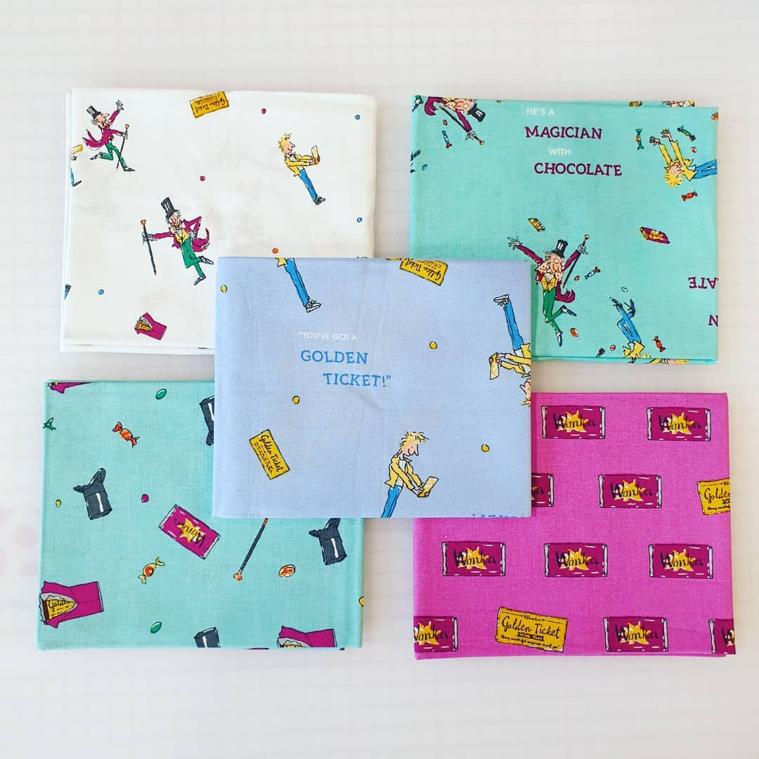 Fat Quarter Bundle Charlie & The Chocolate Factory