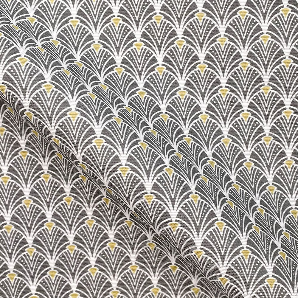 Pop Art Linen Look Cotton Canvas Fabric Art Decor Grey