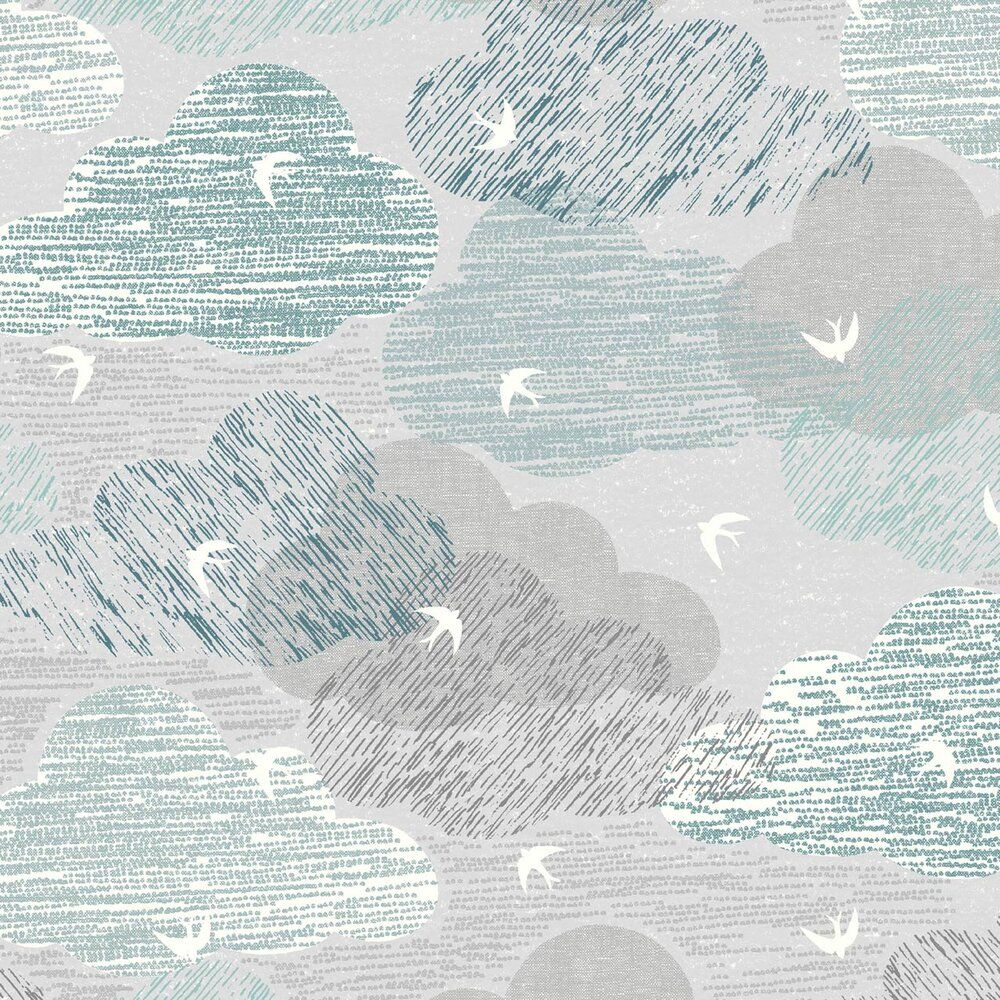 Dashwood Studio Elements Cotton Fabric Clouds Grey