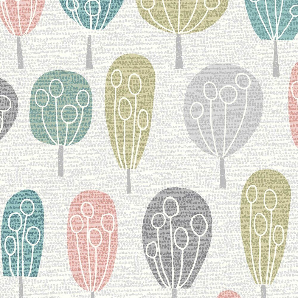 Dashwood Studio Elements Cotton Fabric Trees Grey