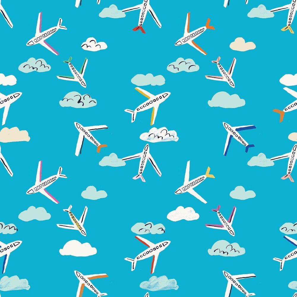 Dashwood Studio Lazy Days Cotton Fabric Planes