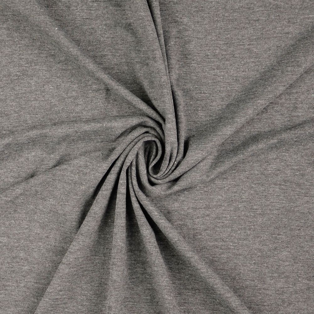 Cotton Jersey Fabric Slate Grey