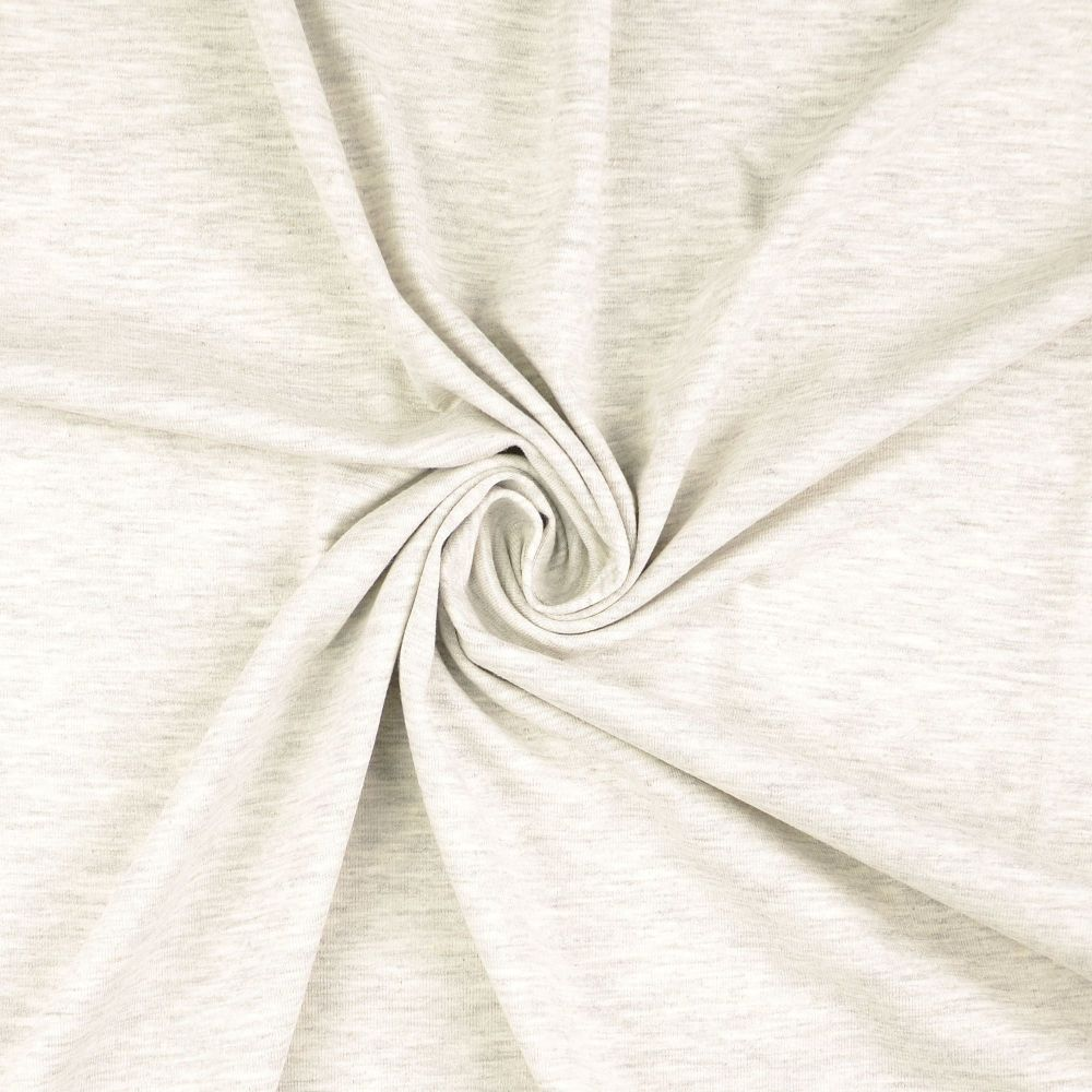 Cotton Jersey Fabric Washed Light Grey